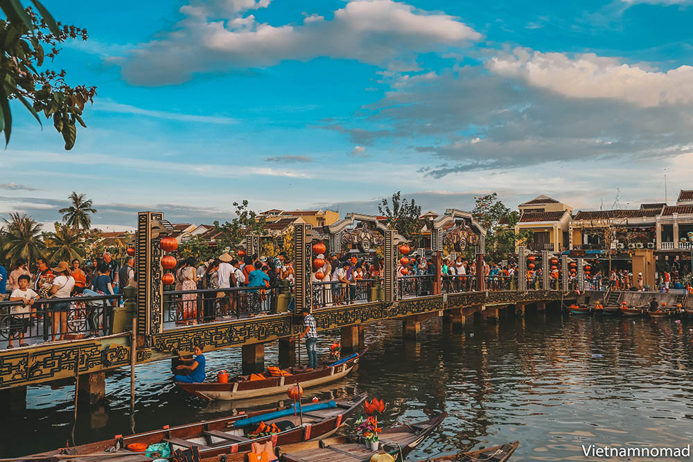 Walking and boating are two attractive activities in Hoi An, Vietnam