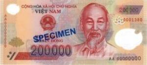 Vietnamese 200000 dong vietnamnomad