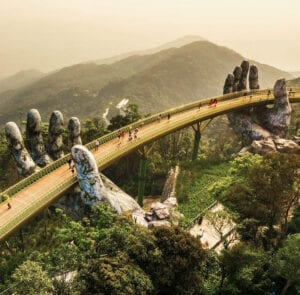 Golden Bridge is an attraction in Ba Na Hills
