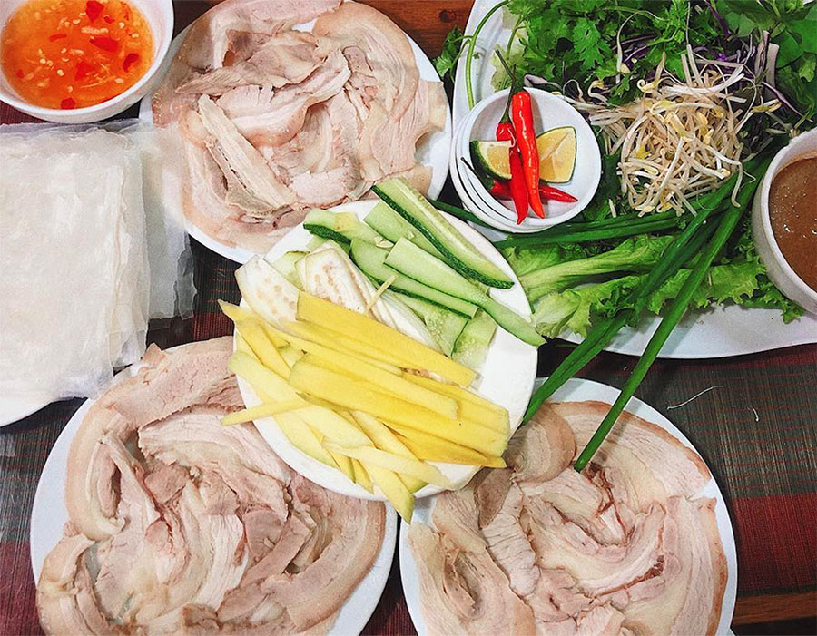 Top 8 dishes and restaurants in Da Nang - Banh Trang Cuon