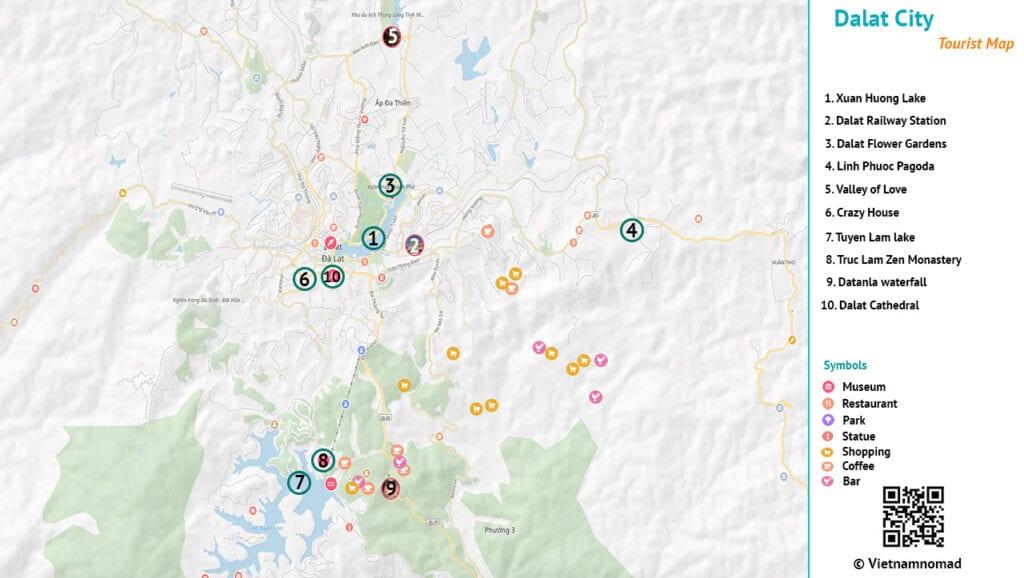 Dalat Tourist Map