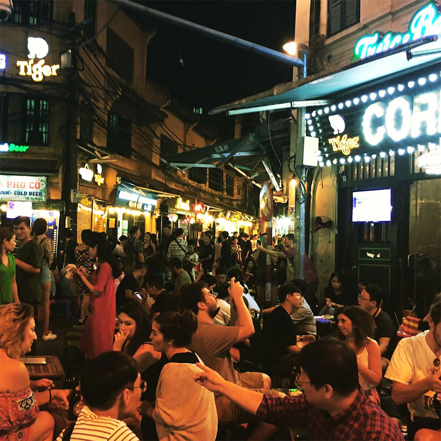 Top 10 things to do in Hanoi - Ta Hien Street