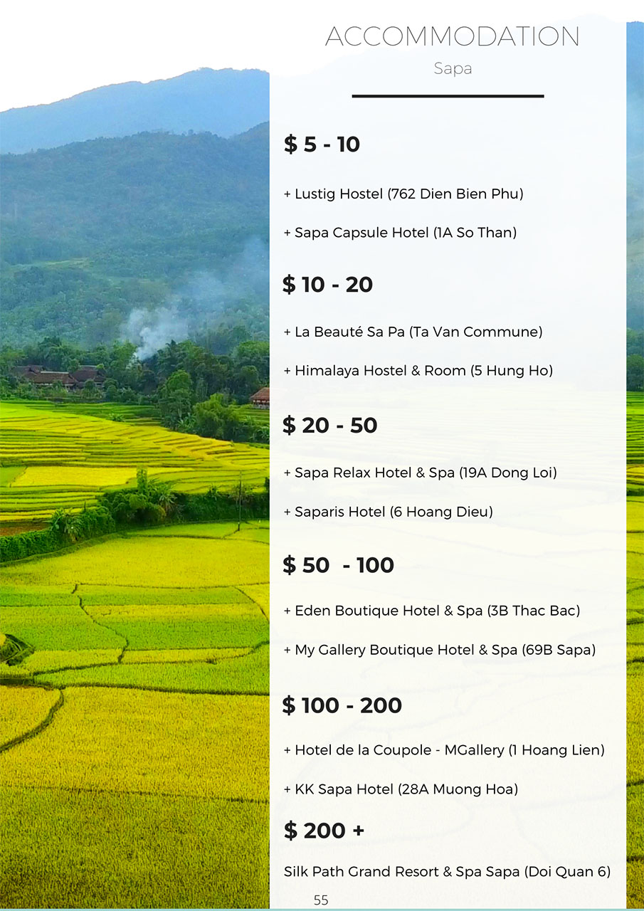 Recommend places to stay in Sapa | Vietnam travel guide book