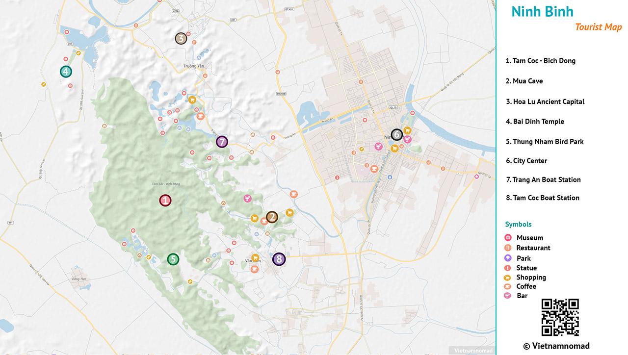 Ninh Binh Tourist Map