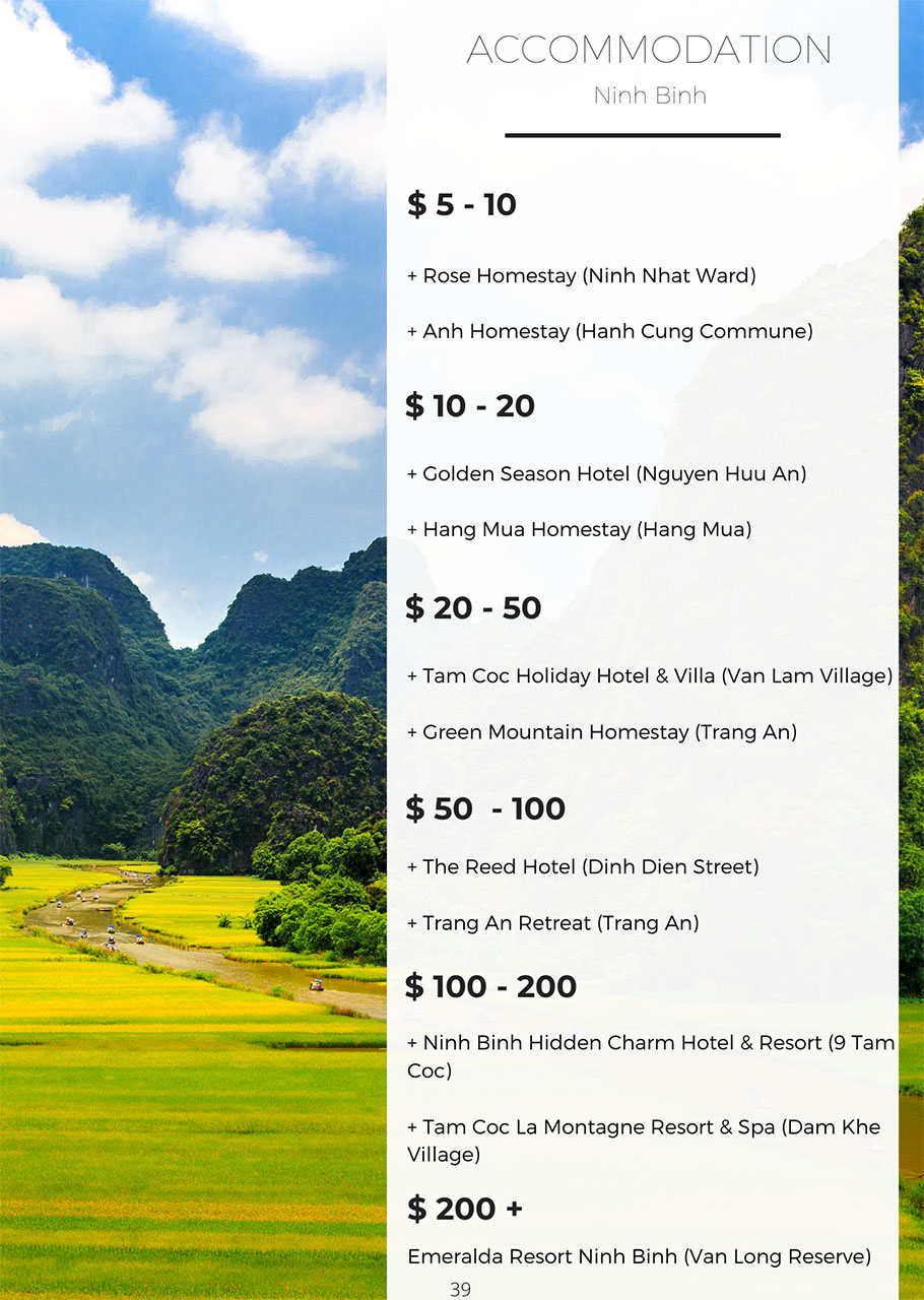 Ninh Binh accommodation