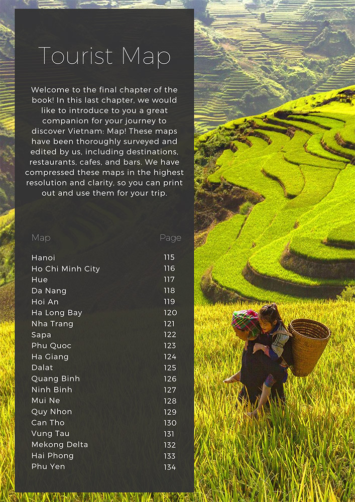 Vietnam Travel Guide Book - Map Chapter
