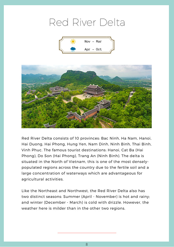 Vietnam Travel Guide Book Table Of Content