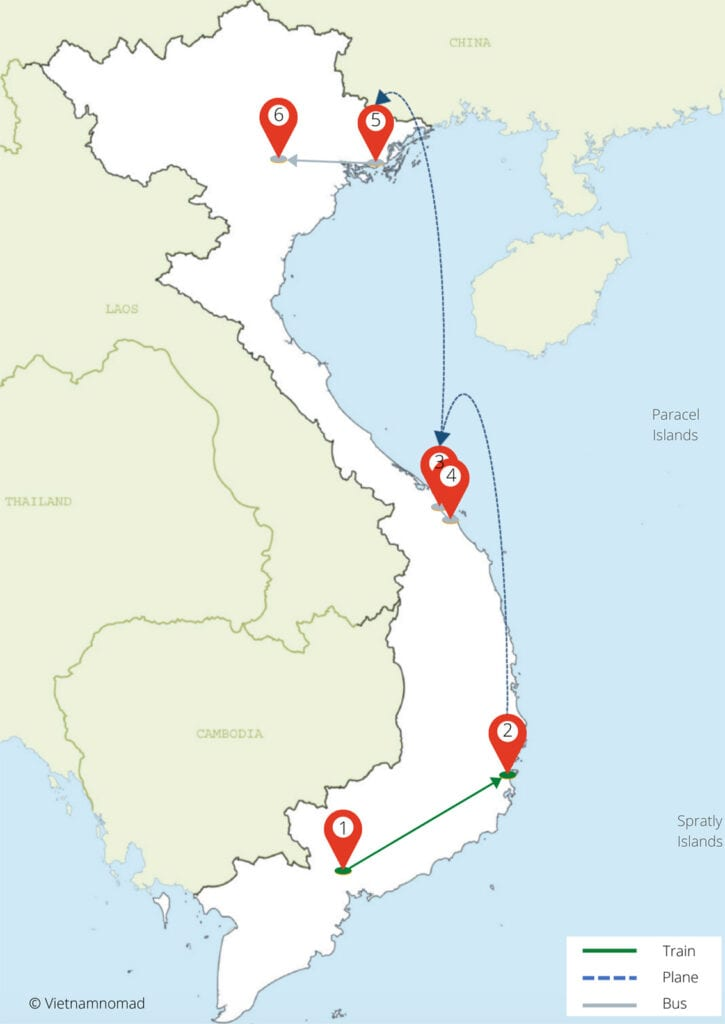 Vietnam itinerary for 10 days