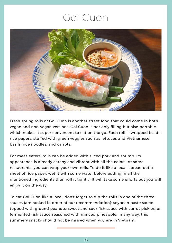 Vietnam Travel Guide Book Food Chapter - Goi Cuon