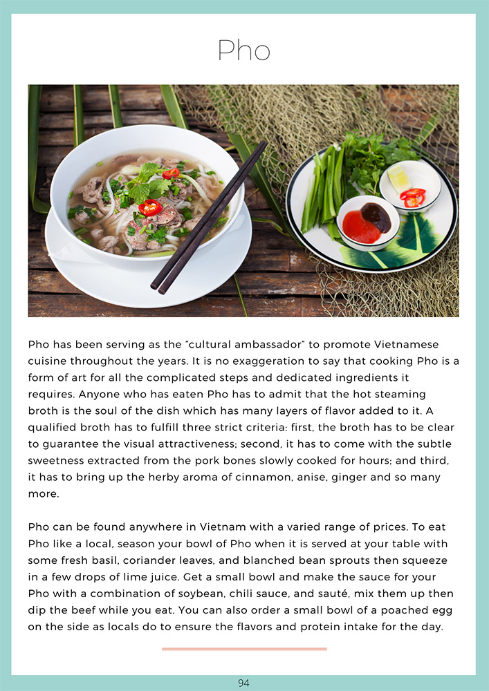 Vietnam Travel Guide Book Food Chapter - Pho