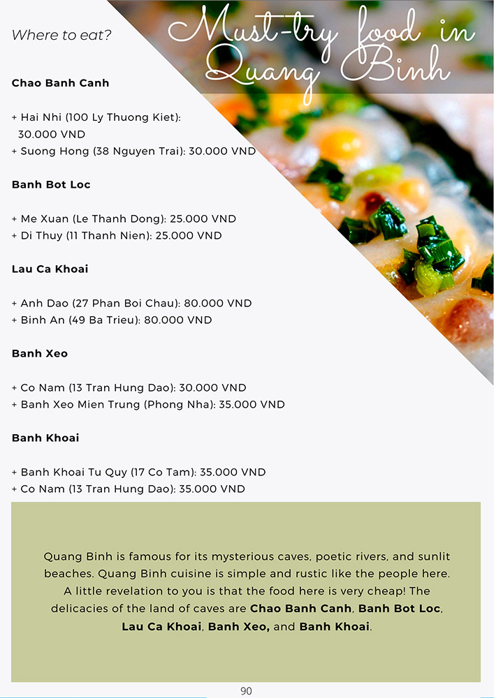 Vietnam travel guide book must try food in Quang Binh